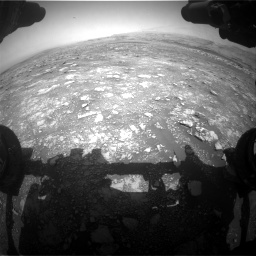Nasa's Mars rover Curiosity acquired this image using its Front Hazard Avoidance Camera (Front Hazcam) on Sol 3018, at drive 2510, site number 85