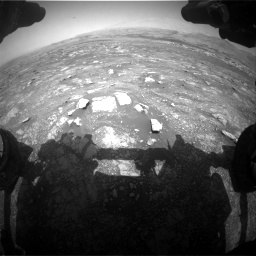 Nasa's Mars rover Curiosity acquired this image using its Front Hazard Avoidance Camera (Front Hazcam) on Sol 3018, at drive 2540, site number 85