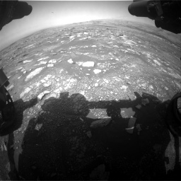 Nasa's Mars rover Curiosity acquired this image using its Front Hazard Avoidance Camera (Front Hazcam) on Sol 3018, at drive 2552, site number 85