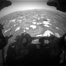 Nasa's Mars rover Curiosity acquired this image using its Front Hazard Avoidance Camera (Front Hazcam) on Sol 3018, at drive 2570, site number 85