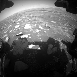 Nasa's Mars rover Curiosity acquired this image using its Front Hazard Avoidance Camera (Front Hazcam) on Sol 3018, at drive 2576, site number 85