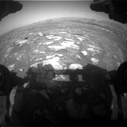 Nasa's Mars rover Curiosity acquired this image using its Front Hazard Avoidance Camera (Front Hazcam) on Sol 3018, at drive 2594, site number 85