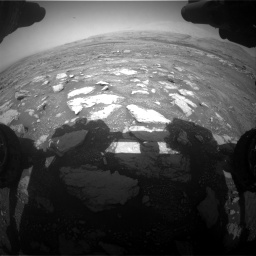 Nasa's Mars rover Curiosity acquired this image using its Front Hazard Avoidance Camera (Front Hazcam) on Sol 3018, at drive 2600, site number 85