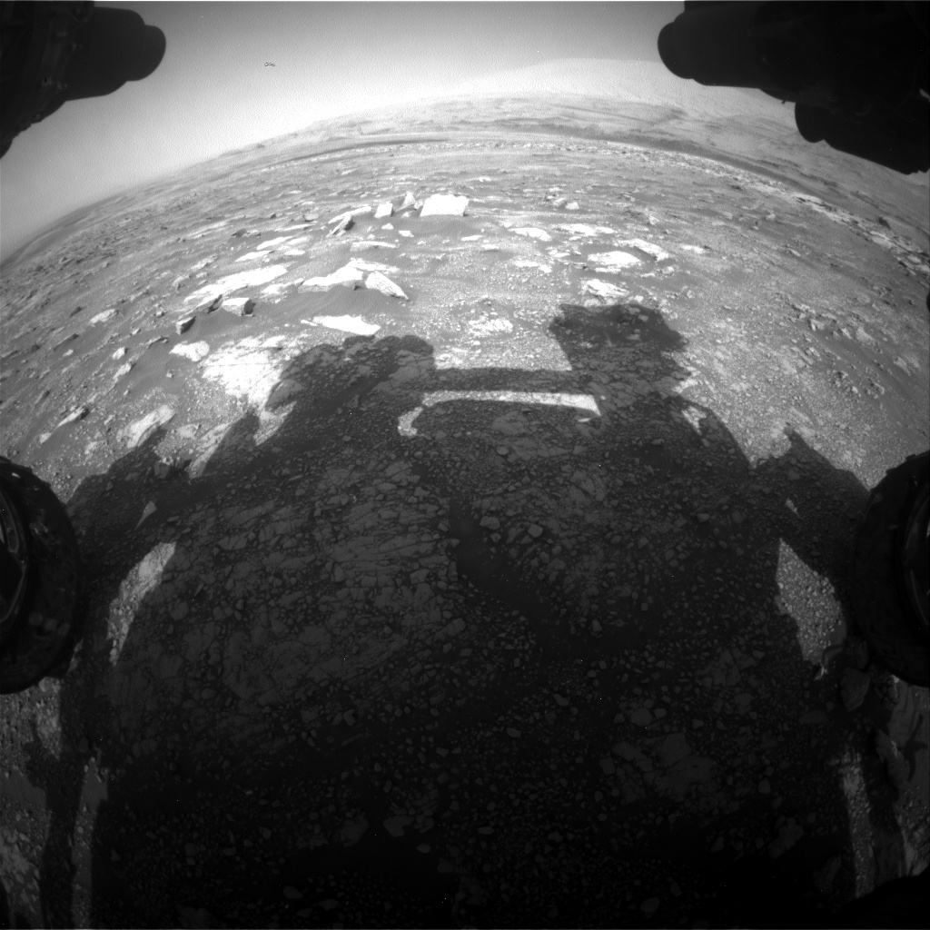 Nasa's Mars rover Curiosity acquired this image using its Front Hazard Avoidance Camera (Front Hazcam) on Sol 3018, at drive 2618, site number 85