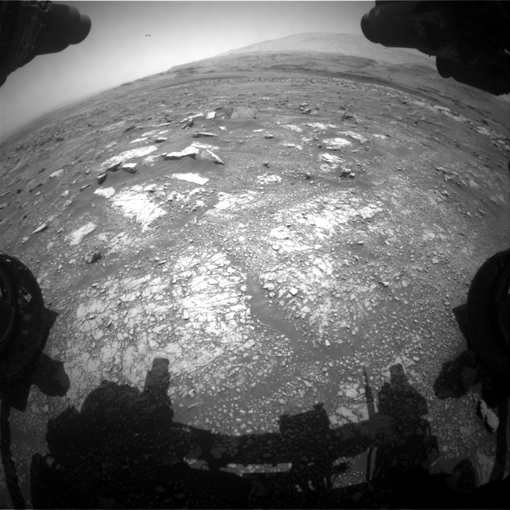 Nasa's Mars rover Curiosity acquired this image using its Front Hazard Avoidance Camera (Front Hazcam) on Sol 3019, at drive 2618, site number 85