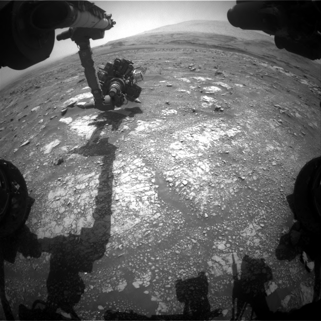 Nasa's Mars rover Curiosity acquired this image using its Front Hazard Avoidance Camera (Front Hazcam) on Sol 3020, at drive 2618, site number 85