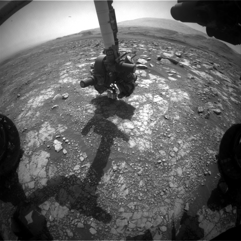 Nasa's Mars rover Curiosity acquired this image using its Front Hazard Avoidance Camera (Front Hazcam) on Sol 3022, at drive 0, site number 86