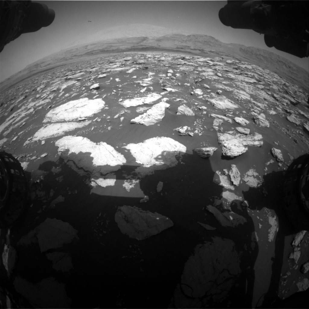 Nasa's Mars rover Curiosity acquired this image using its Front Hazard Avoidance Camera (Front Hazcam) on Sol 3022, at drive 174, site number 86