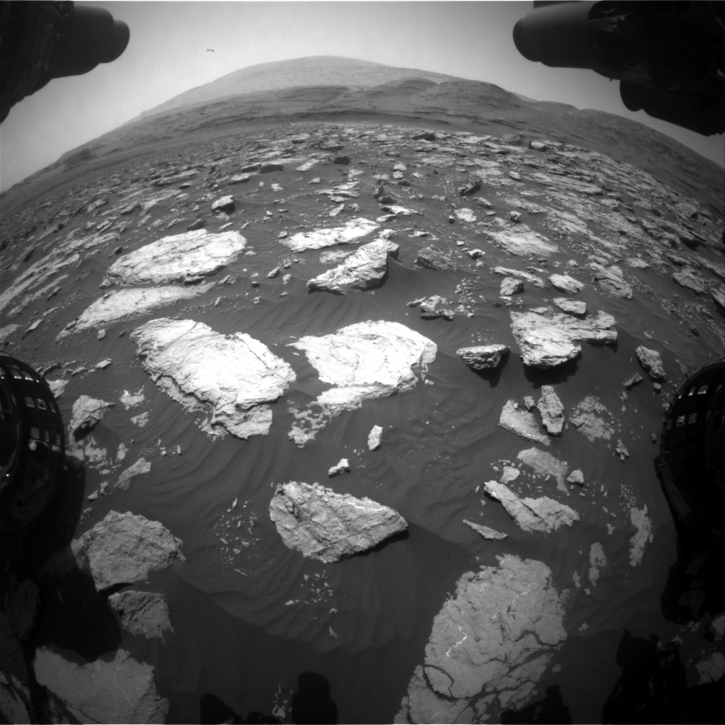 Nasa's Mars rover Curiosity acquired this image using its Front Hazard Avoidance Camera (Front Hazcam) on Sol 3023, at drive 174, site number 86