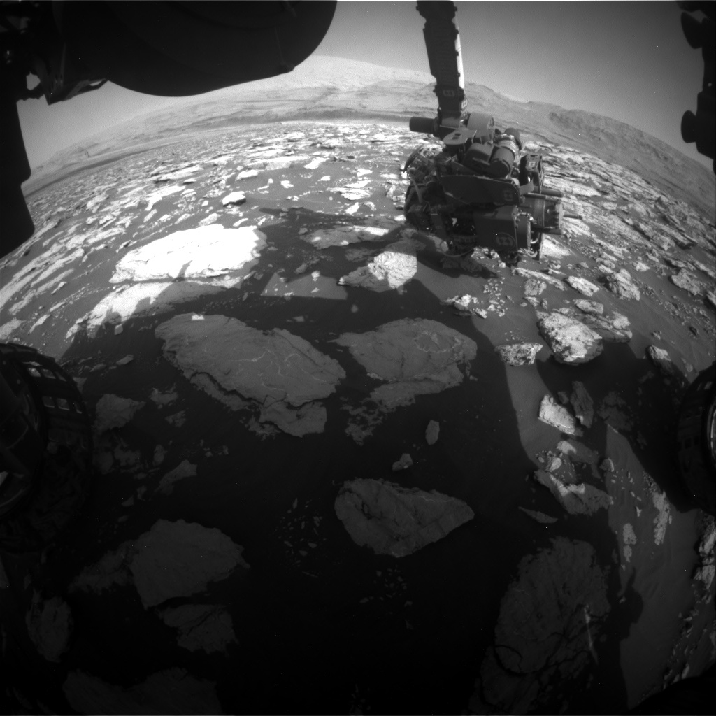 Nasa's Mars rover Curiosity acquired this image using its Front Hazard Avoidance Camera (Front Hazcam) on Sol 3024, at drive 174, site number 86