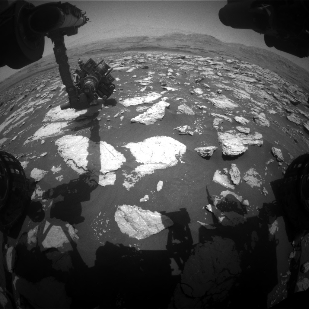 Nasa's Mars rover Curiosity acquired this image using its Front Hazard Avoidance Camera (Front Hazcam) on Sol 3025, at drive 174, site number 86