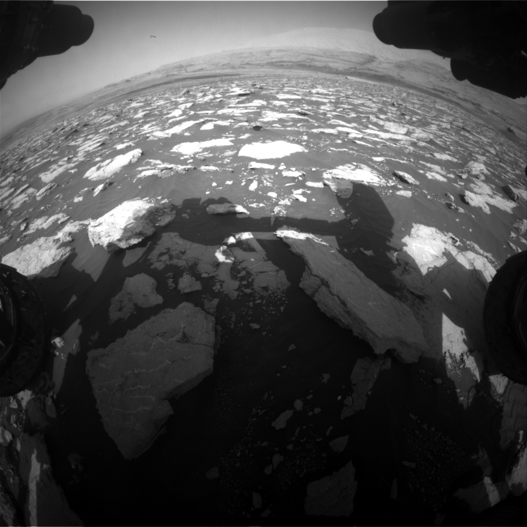 Nasa's Mars rover Curiosity acquired this image using its Front Hazard Avoidance Camera (Front Hazcam) on Sol 3025, at drive 480, site number 86