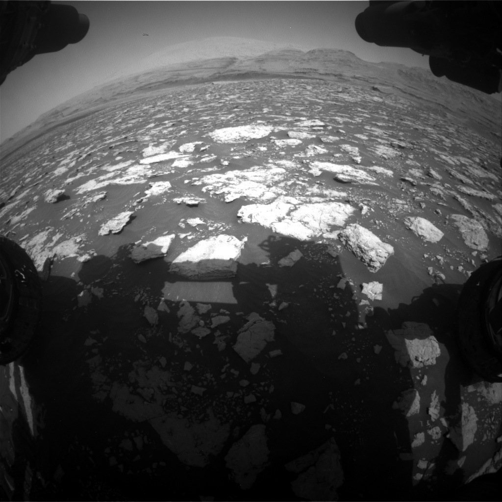 Nasa's Mars rover Curiosity acquired this image using its Front Hazard Avoidance Camera (Front Hazcam) on Sol 3026, at drive 618, site number 86