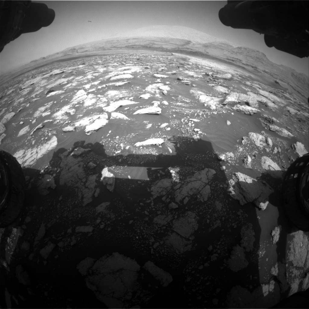 Nasa's Mars rover Curiosity acquired this image using its Front Hazard Avoidance Camera (Front Hazcam) on Sol 3027, at drive 978, site number 86