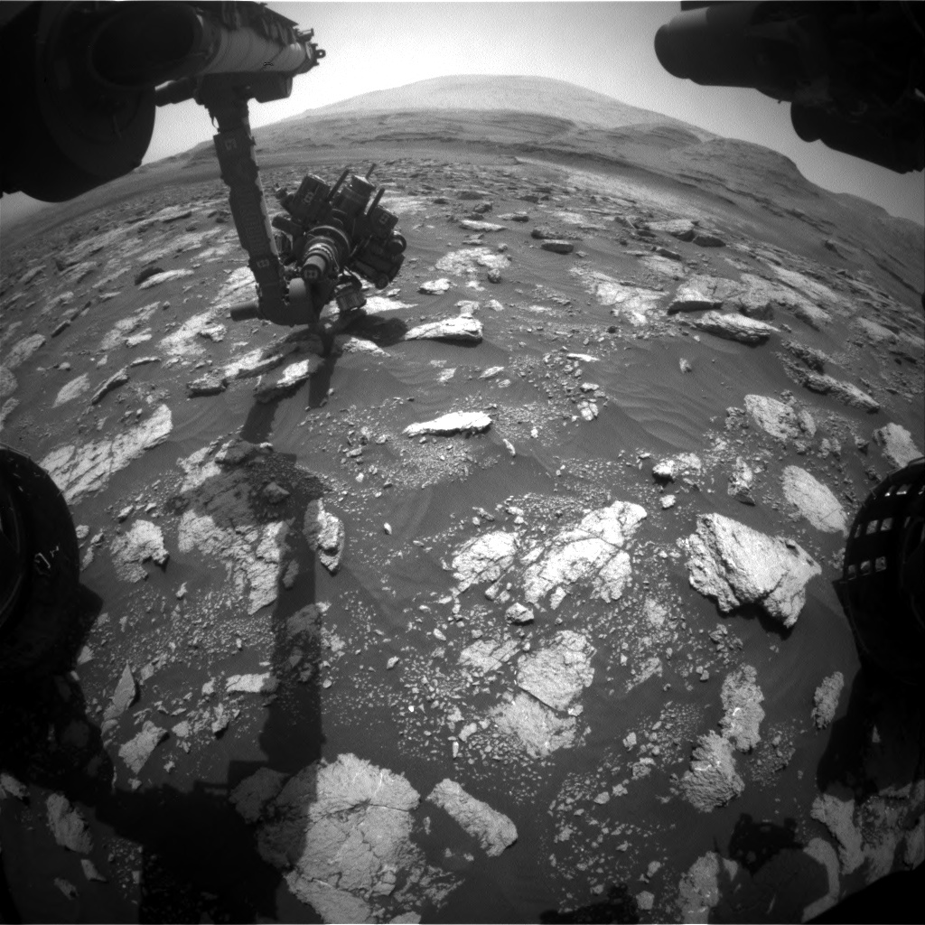 Nasa's Mars rover Curiosity acquired this image using its Front Hazard Avoidance Camera (Front Hazcam) on Sol 3028, at drive 978, site number 86