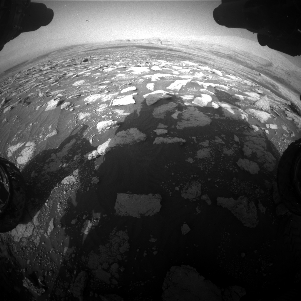 Nasa's Mars rover Curiosity acquired this image using its Front Hazard Avoidance Camera (Front Hazcam) on Sol 3028, at drive 1218, site number 86