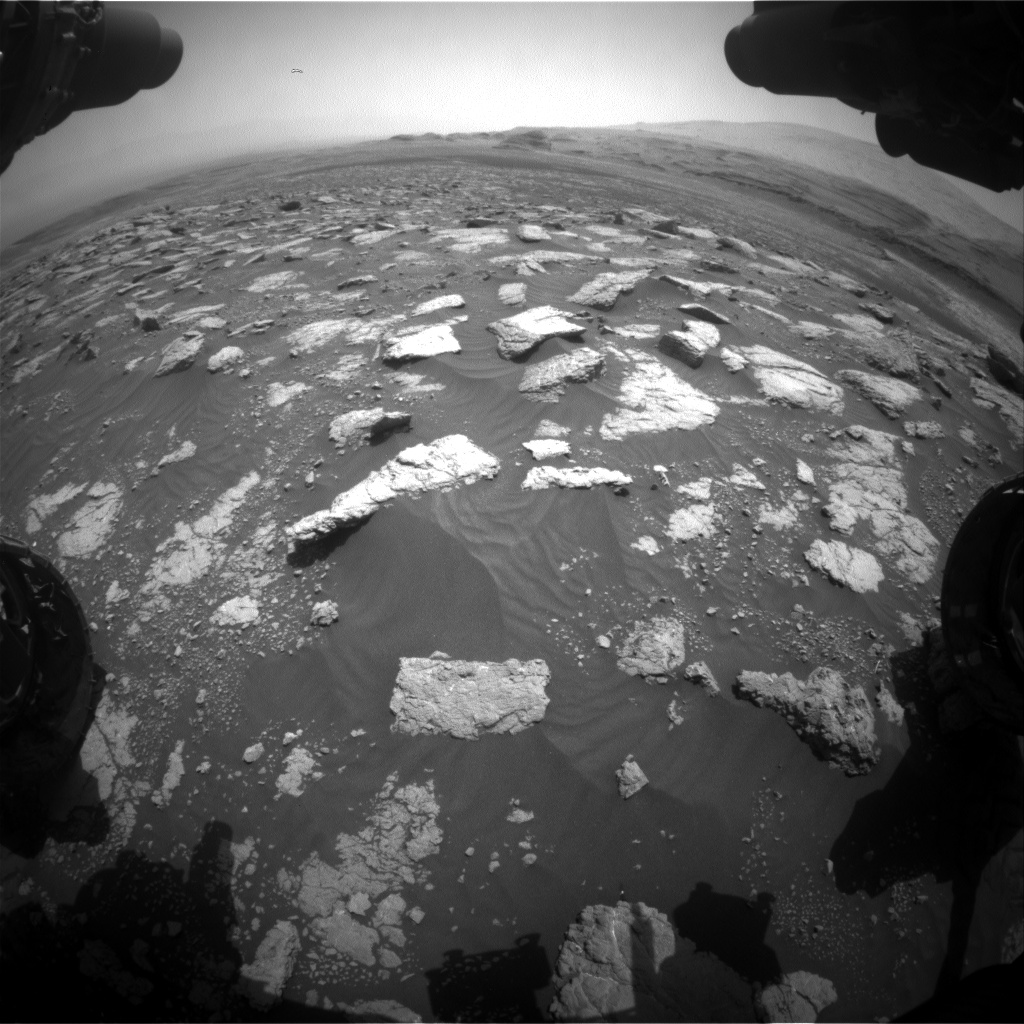 Nasa's Mars rover Curiosity acquired this image using its Front Hazard Avoidance Camera (Front Hazcam) on Sol 3029, at drive 1218, site number 86