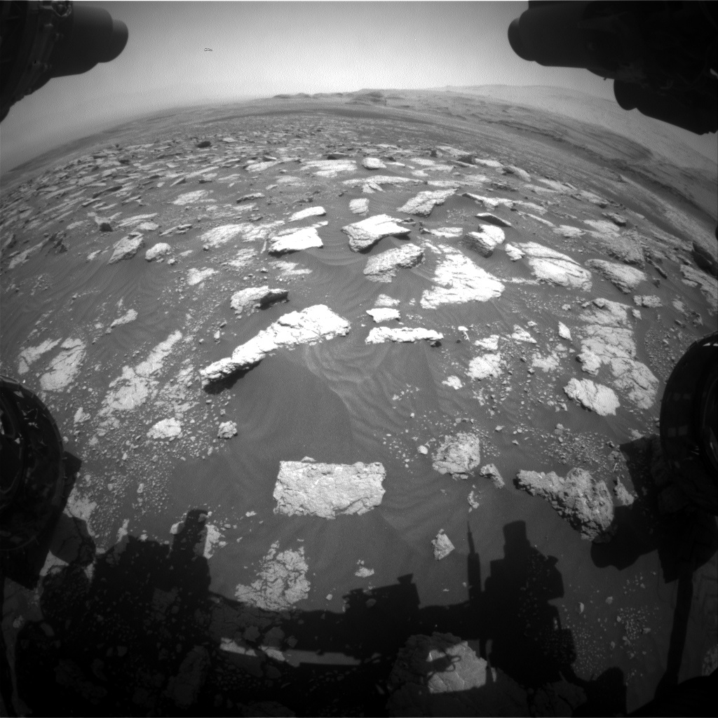 Nasa's Mars rover Curiosity acquired this image using its Front Hazard Avoidance Camera (Front Hazcam) on Sol 3030, at drive 1218, site number 86
