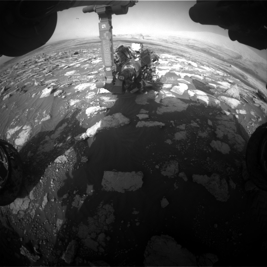 Nasa's Mars rover Curiosity acquired this image using its Front Hazard Avoidance Camera (Front Hazcam) on Sol 3031, at drive 1218, site number 86