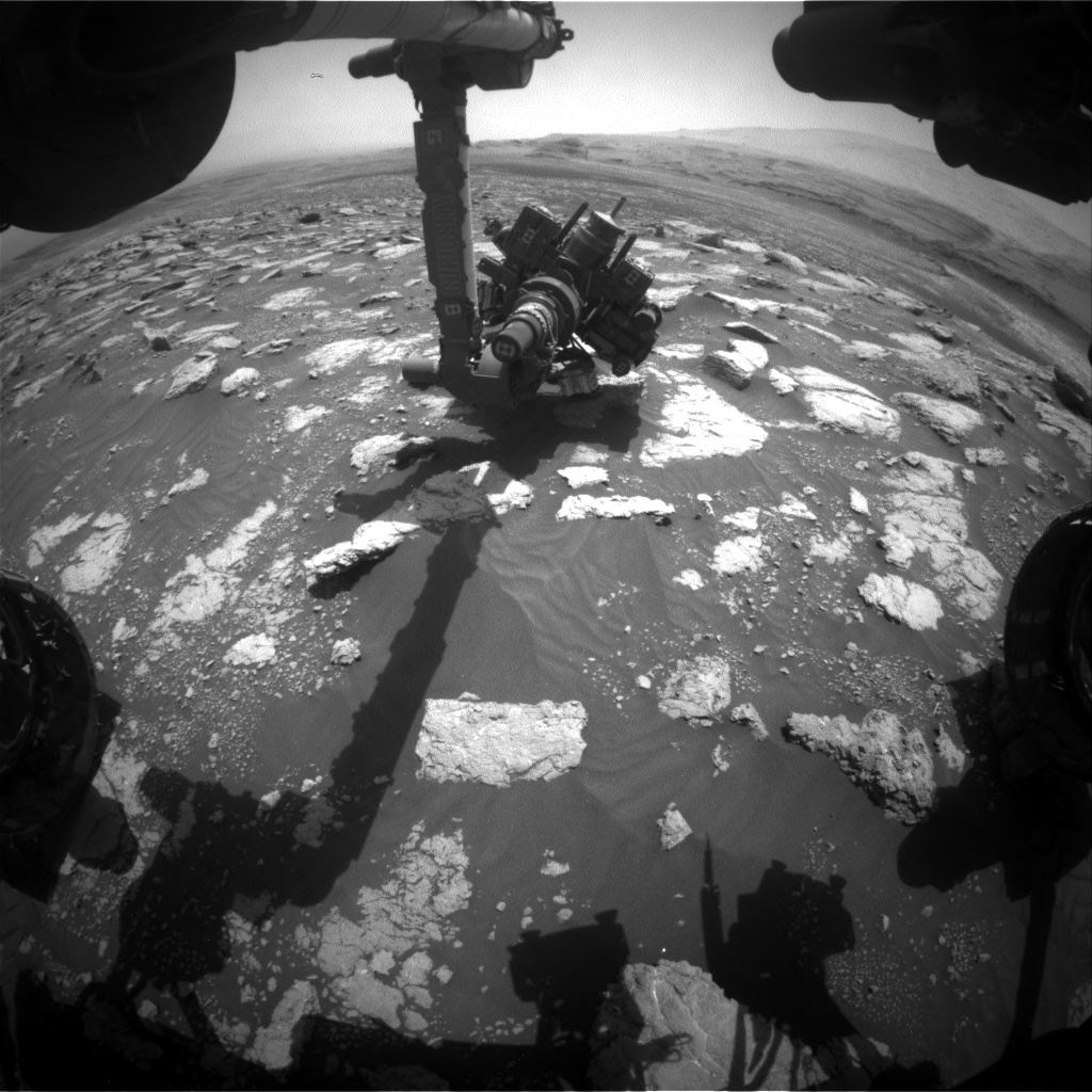 Nasa's Mars rover Curiosity acquired this image using its Front Hazard Avoidance Camera (Front Hazcam) on Sol 3032, at drive 1218, site number 86
