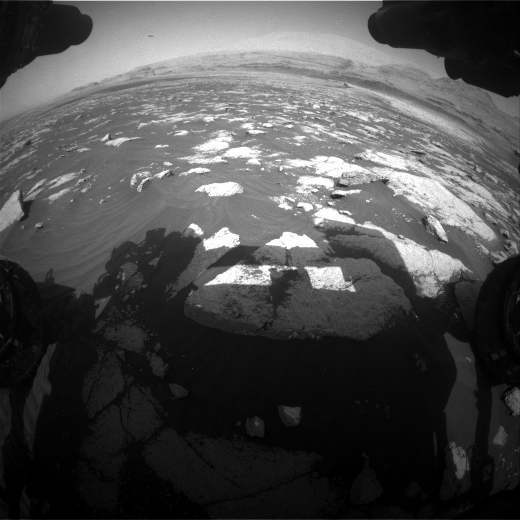 Nasa's Mars rover Curiosity acquired this image using its Front Hazard Avoidance Camera (Front Hazcam) on Sol 3032, at drive 1456, site number 86