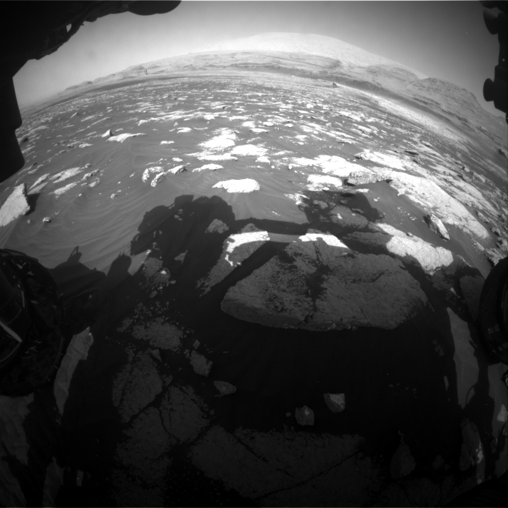 Nasa's Mars rover Curiosity acquired this image using its Front Hazard Avoidance Camera (Front Hazcam) on Sol 3033, at drive 1456, site number 86