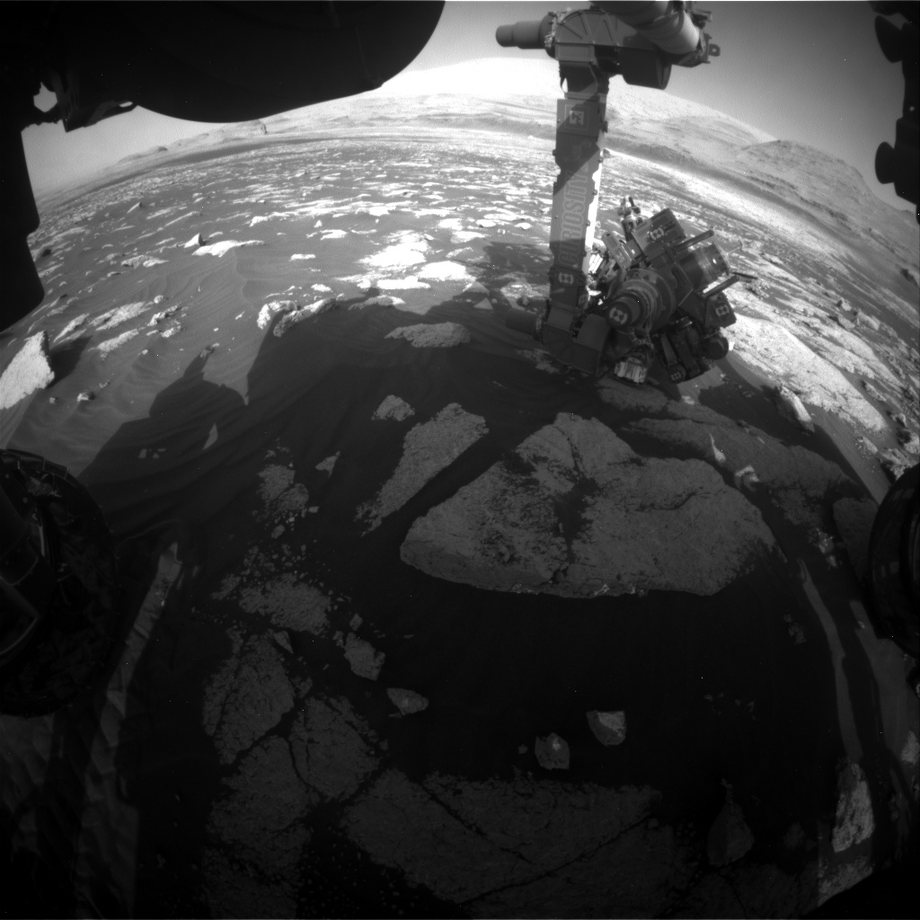 Nasa's Mars rover Curiosity acquired this image using its Front Hazard Avoidance Camera (Front Hazcam) on Sol 3034, at drive 1456, site number 86