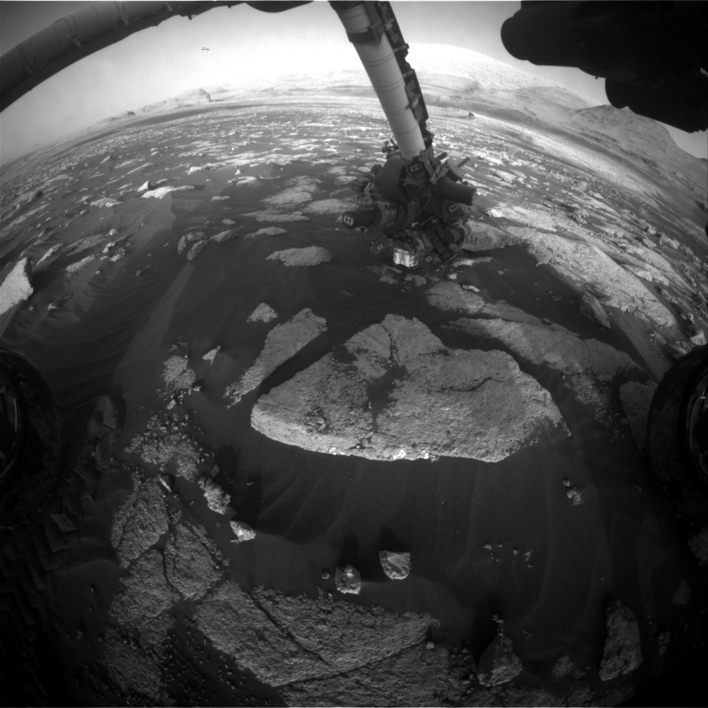 Nasa's Mars rover Curiosity acquired this image using its Front Hazard Avoidance Camera (Front Hazcam) on Sol 3035, at drive 1456, site number 86