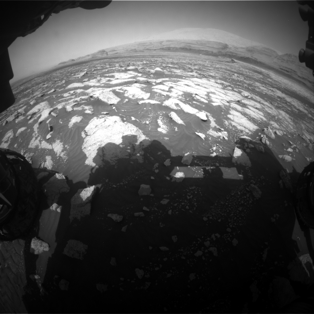 Nasa's Mars rover Curiosity acquired this image using its Front Hazard Avoidance Camera (Front Hazcam) on Sol 3036, at drive 1840, site number 86