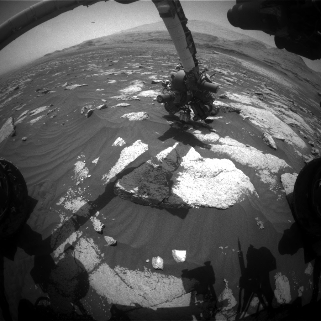 Nasa's Mars rover Curiosity acquired this image using its Front Hazard Avoidance Camera (Front Hazcam) on Sol 3036, at drive 1456, site number 86