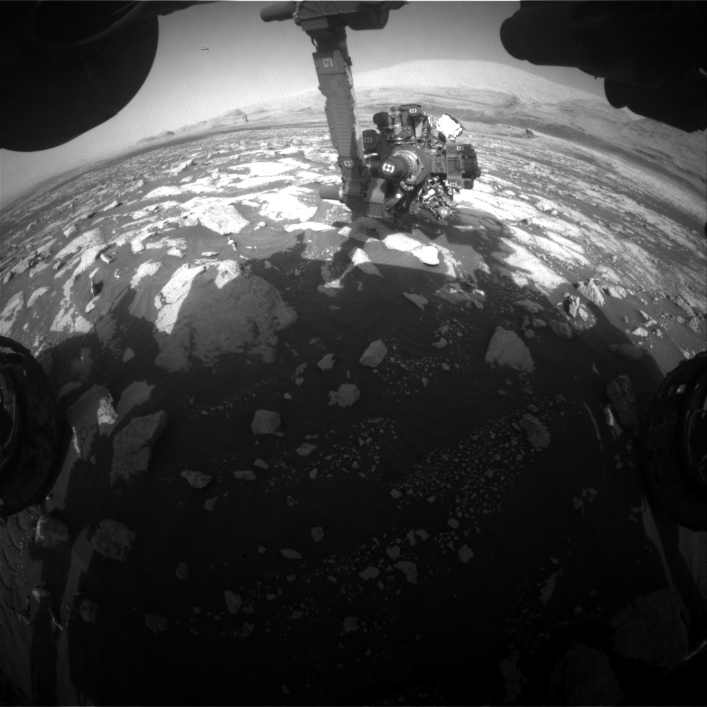 Nasa's Mars rover Curiosity acquired this image using its Front Hazard Avoidance Camera (Front Hazcam) on Sol 3037, at drive 1840, site number 86