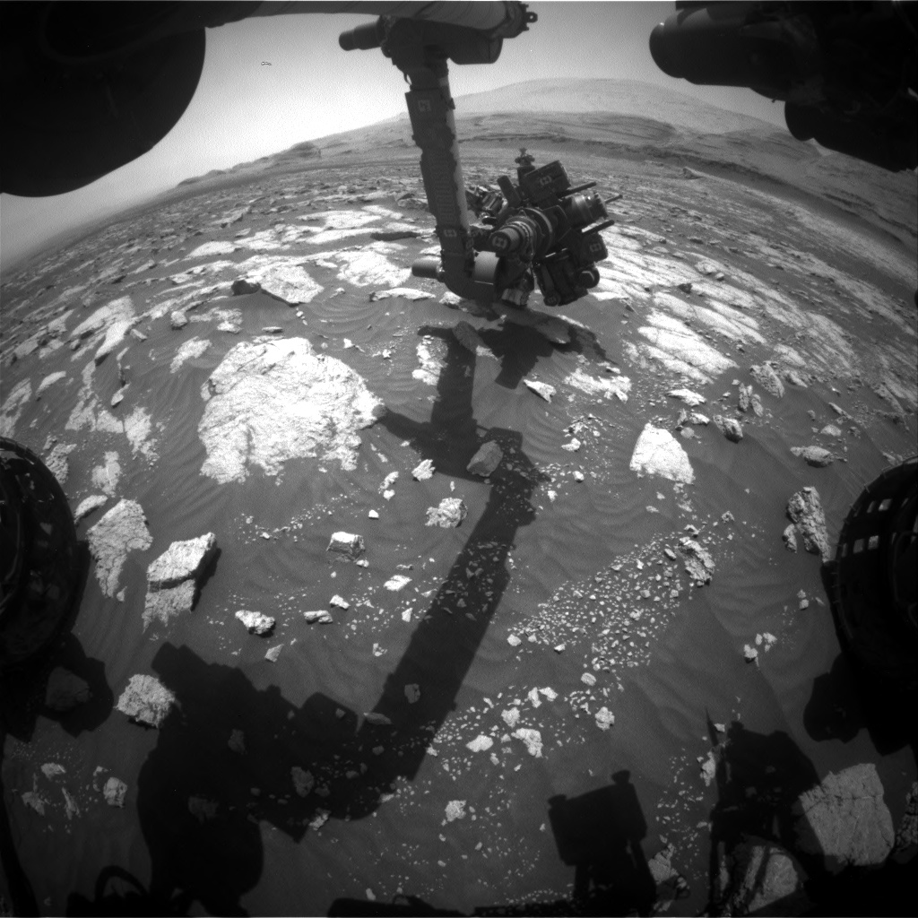 Nasa's Mars rover Curiosity acquired this image using its Front Hazard Avoidance Camera (Front Hazcam) on Sol 3038, at drive 1840, site number 86