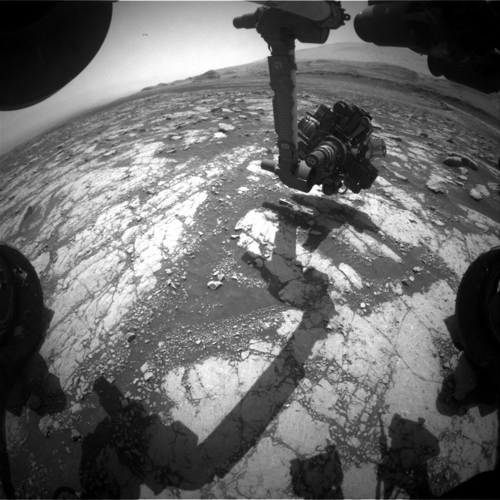 Nasa's Mars rover Curiosity acquired this image using its Front Hazard Avoidance Camera (Front Hazcam) on Sol 3040, at drive 2146, site number 86