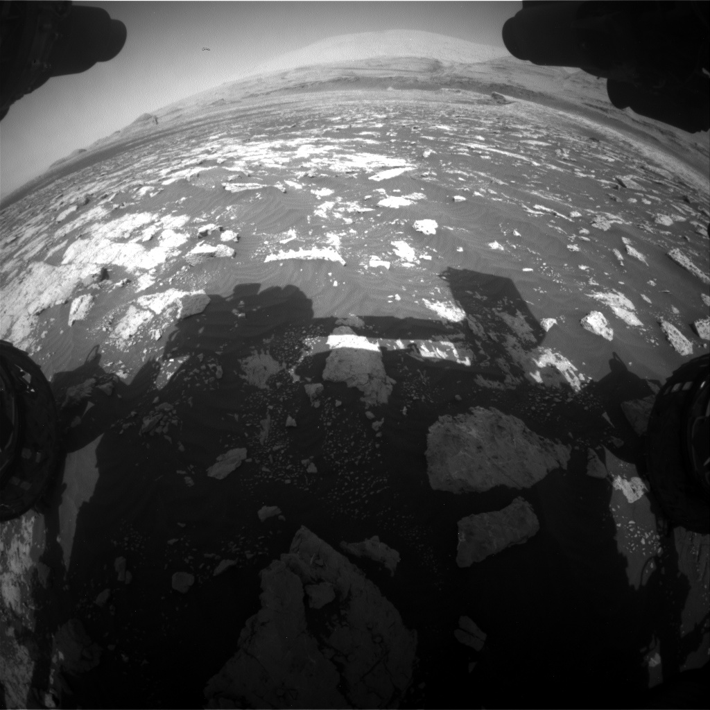 Nasa's Mars rover Curiosity acquired this image using its Front Hazard Avoidance Camera (Front Hazcam) on Sol 3040, at drive 2302, site number 86