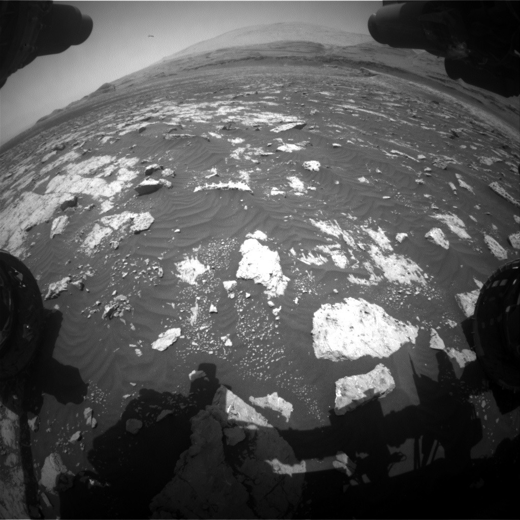 Nasa's Mars rover Curiosity acquired this image using its Front Hazard Avoidance Camera (Front Hazcam) on Sol 3041, at drive 2302, site number 86