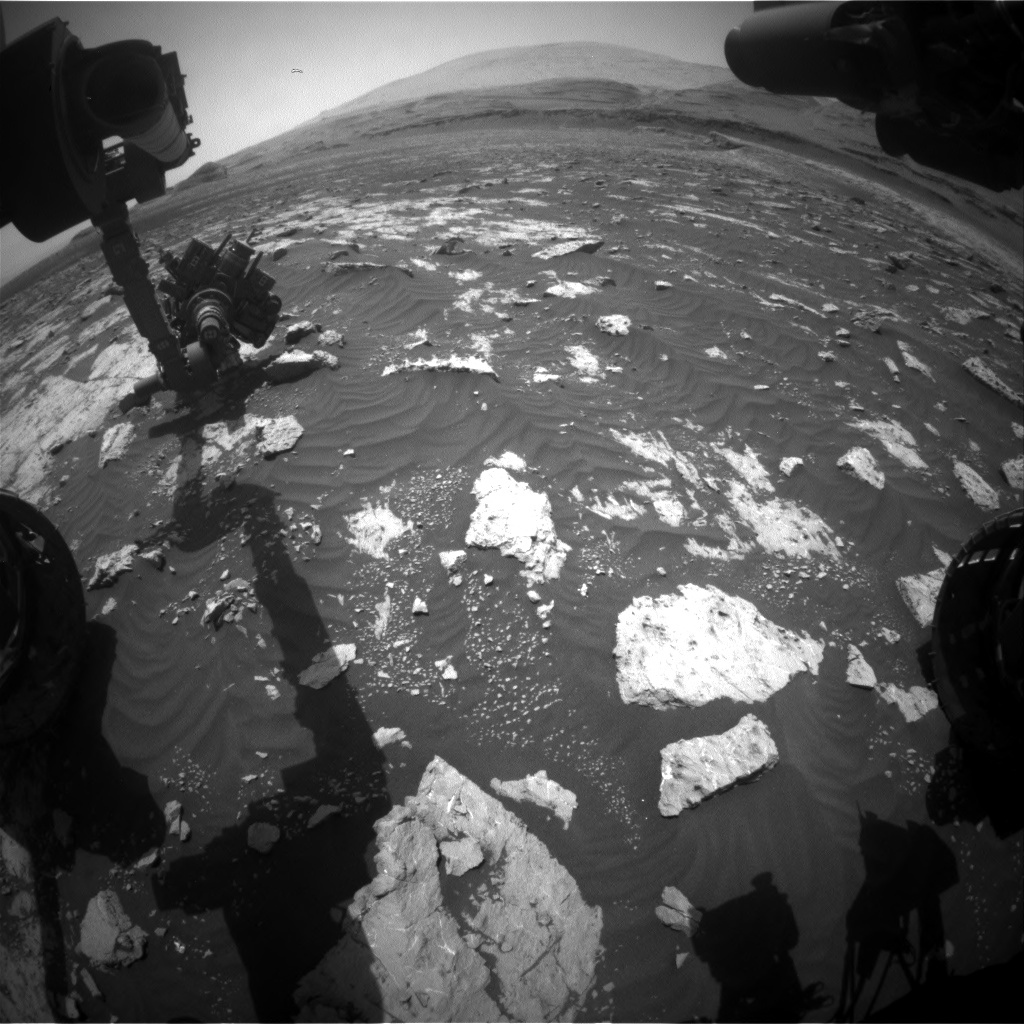Nasa's Mars rover Curiosity acquired this image using its Front Hazard Avoidance Camera (Front Hazcam) on Sol 3042, at drive 2302, site number 86