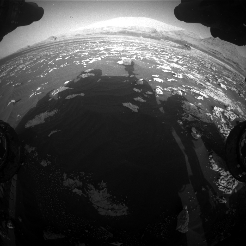Nasa's Mars rover Curiosity acquired this image using its Front Hazard Avoidance Camera (Front Hazcam) on Sol 3042, at drive 2596, site number 86