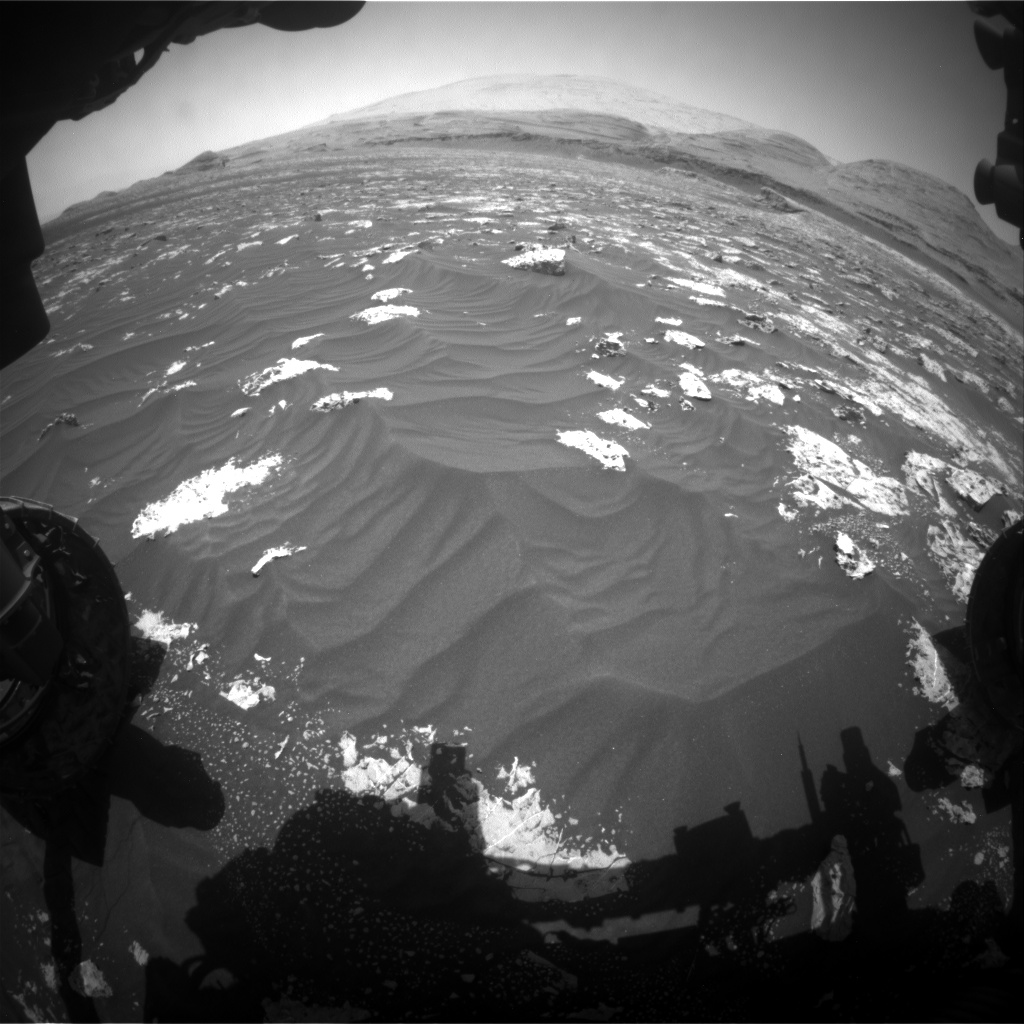 Nasa's Mars rover Curiosity acquired this image using its Front Hazard Avoidance Camera (Front Hazcam) on Sol 3043, at drive 2596, site number 86