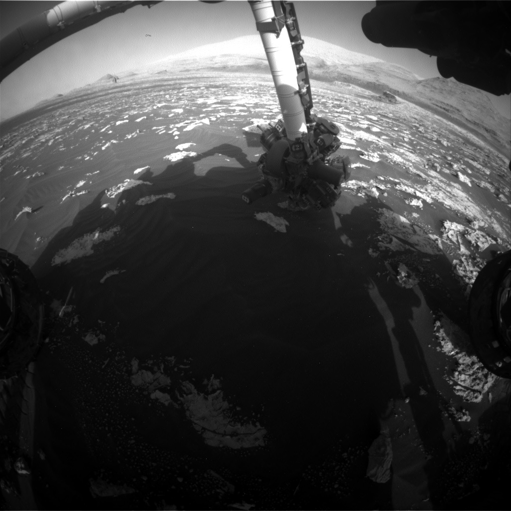 Nasa's Mars rover Curiosity acquired this image using its Front Hazard Avoidance Camera (Front Hazcam) on Sol 3044, at drive 2596, site number 86