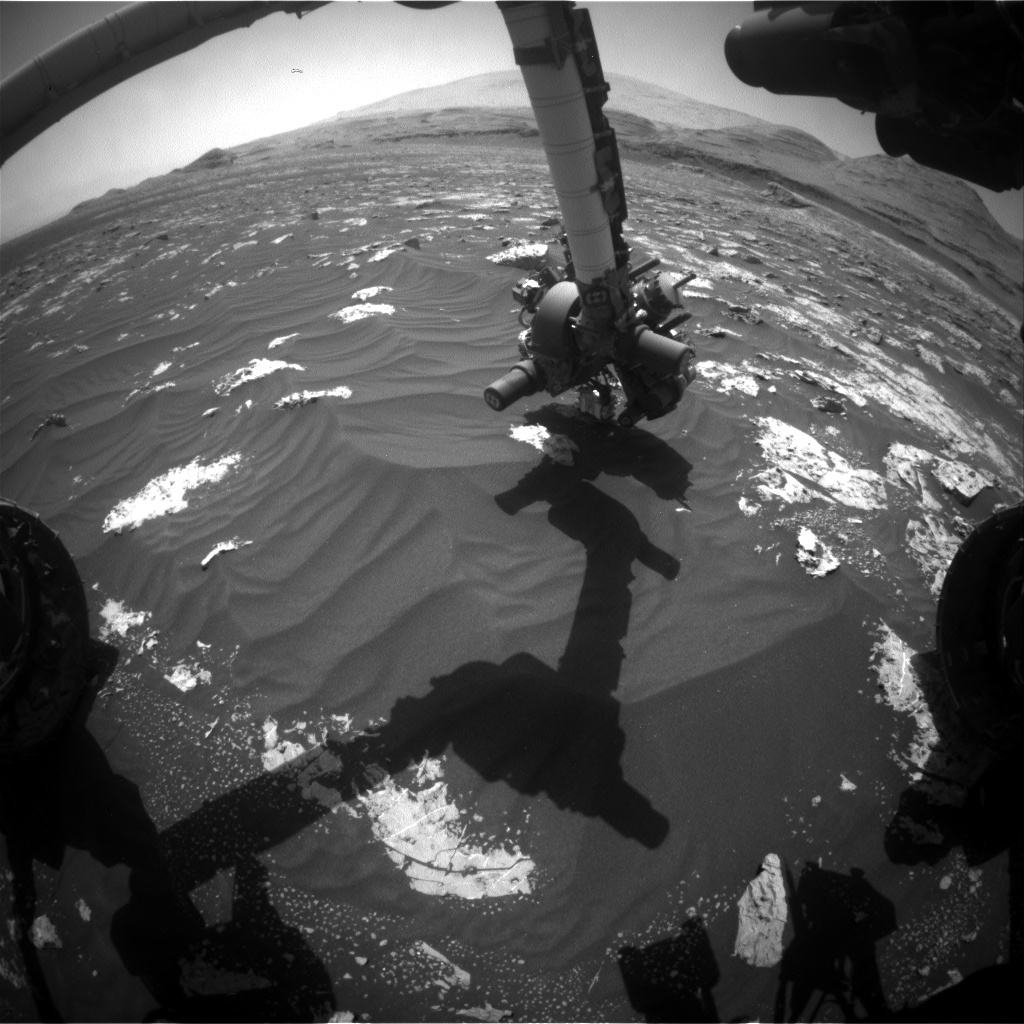 Nasa's Mars rover Curiosity acquired this image using its Front Hazard Avoidance Camera (Front Hazcam) on Sol 3045, at drive 2596, site number 86