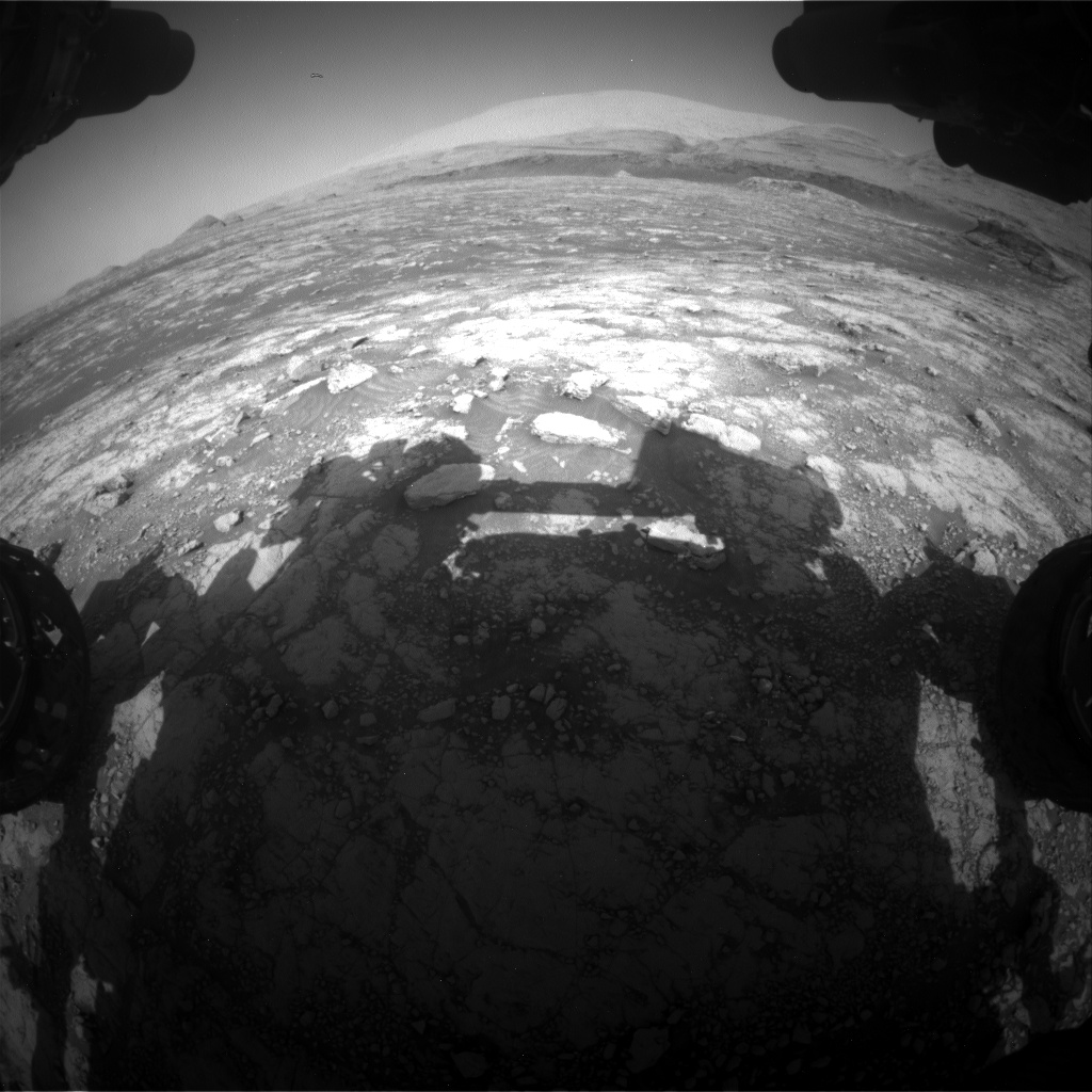 Nasa's Mars rover Curiosity acquired this image using its Front Hazard Avoidance Camera (Front Hazcam) on Sol 3045, at drive 0, site number 87