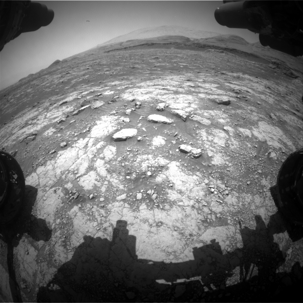 Nasa's Mars rover Curiosity acquired this image using its Front Hazard Avoidance Camera (Front Hazcam) on Sol 3046, at drive 0, site number 87