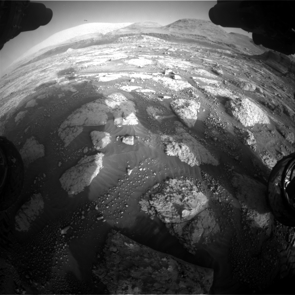 Nasa's Mars rover Curiosity acquired this image using its Front Hazard Avoidance Camera (Front Hazcam) on Sol 3047, at drive 420, site number 87