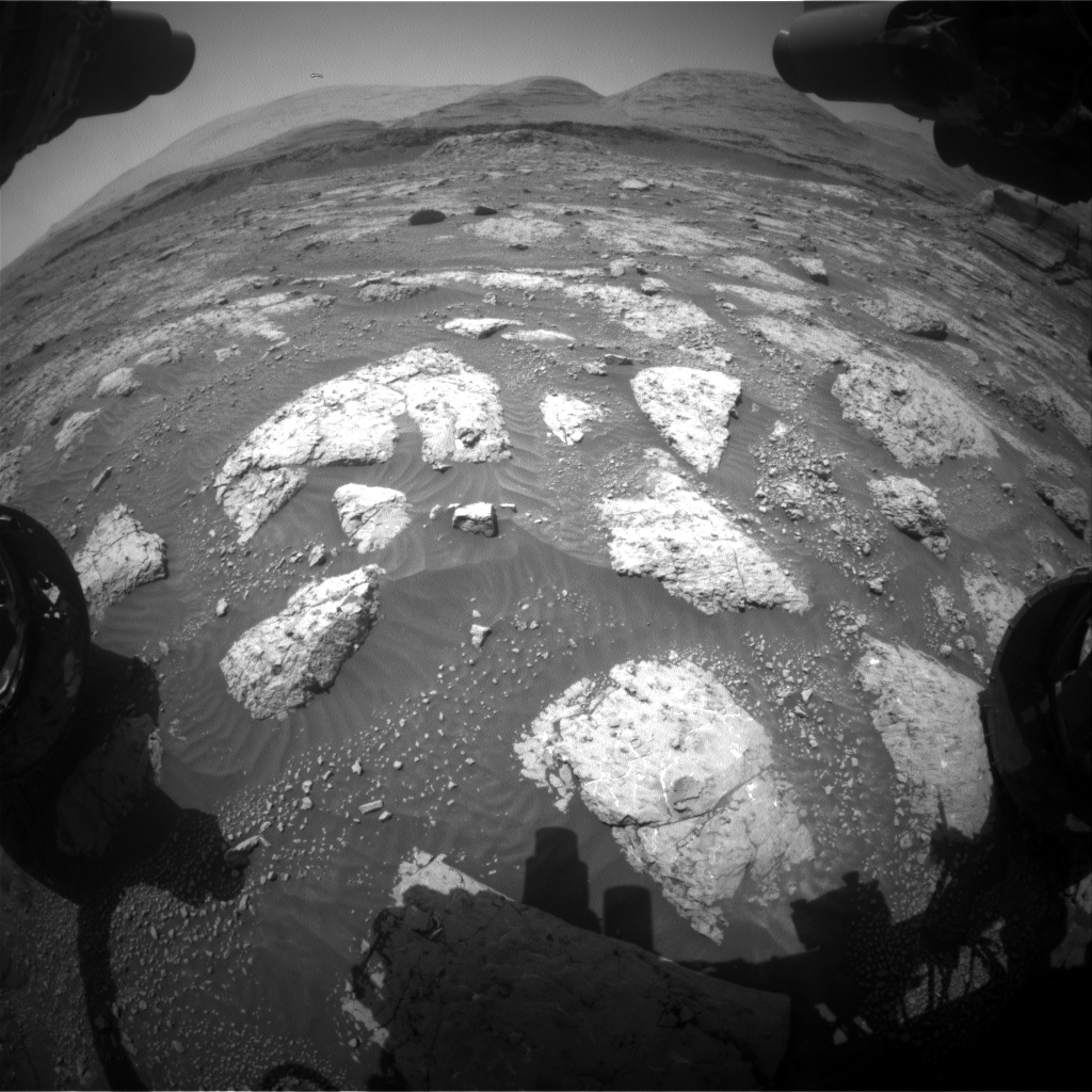 Nasa's Mars rover Curiosity acquired this image using its Front Hazard Avoidance Camera (Front Hazcam) on Sol 3048, at drive 420, site number 87