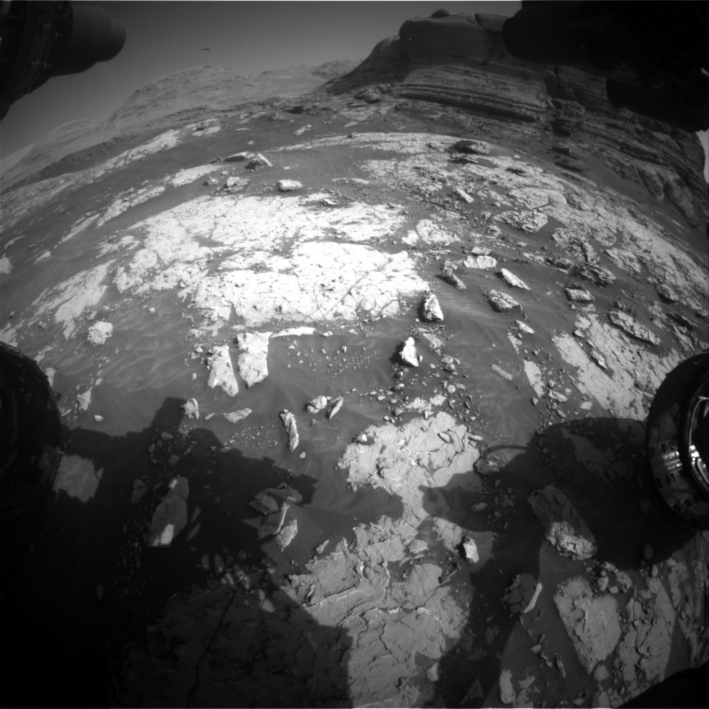 Nasa's Mars rover Curiosity acquired this image using its Front Hazard Avoidance Camera (Front Hazcam) on Sol 3049, at drive 696, site number 87