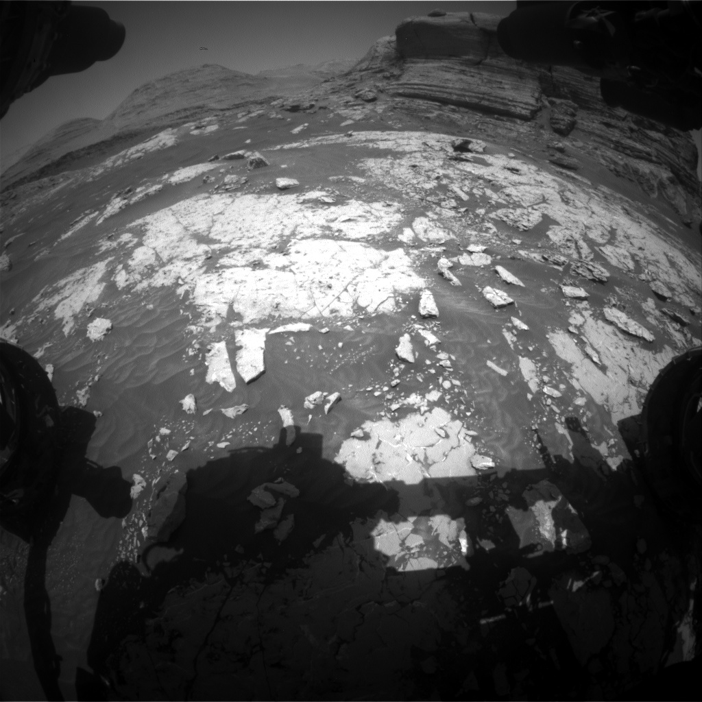 Nasa's Mars rover Curiosity acquired this image using its Front Hazard Avoidance Camera (Front Hazcam) on Sol 3050, at drive 696, site number 87