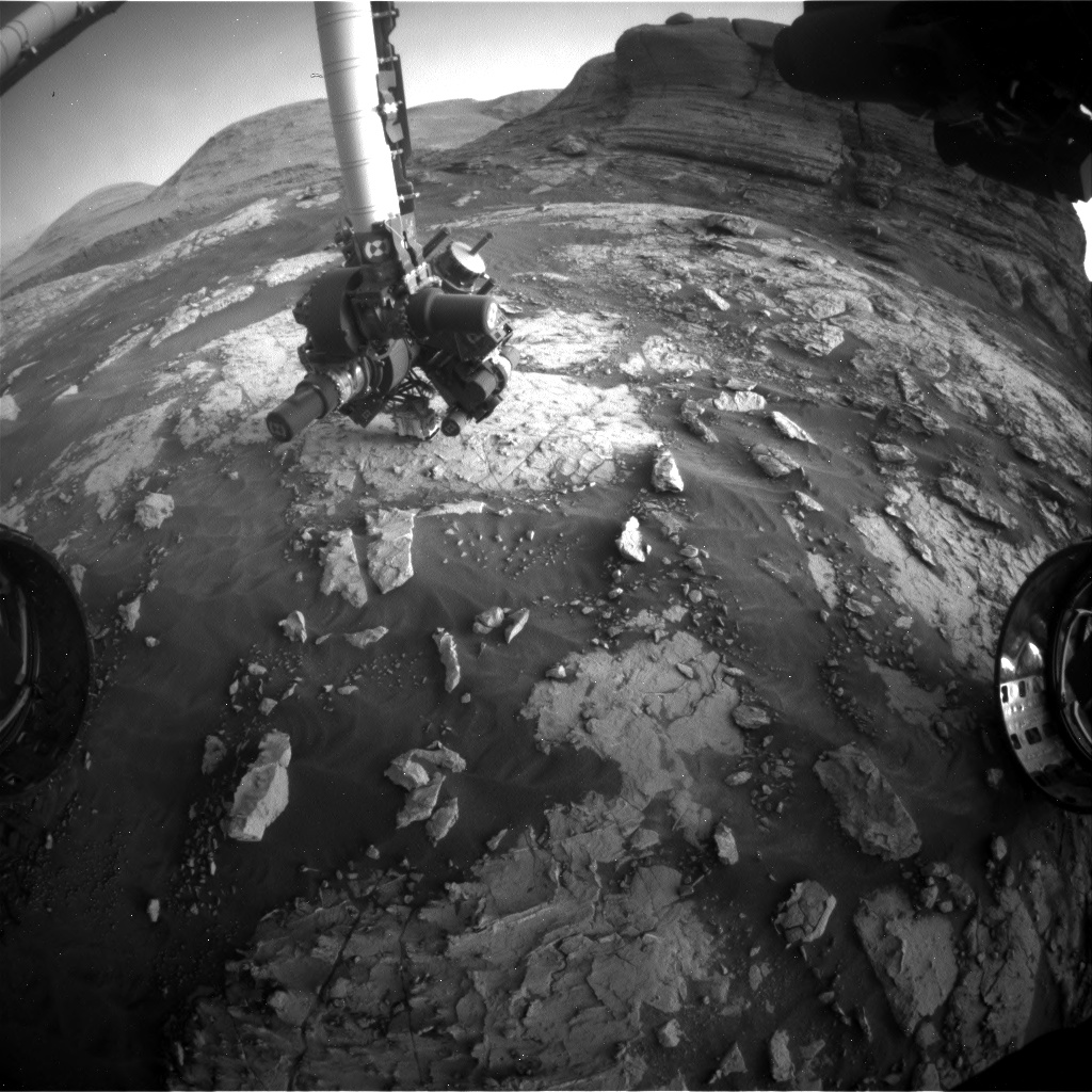 Nasa's Mars rover Curiosity acquired this image using its Front Hazard Avoidance Camera (Front Hazcam) on Sol 3051, at drive 696, site number 87
