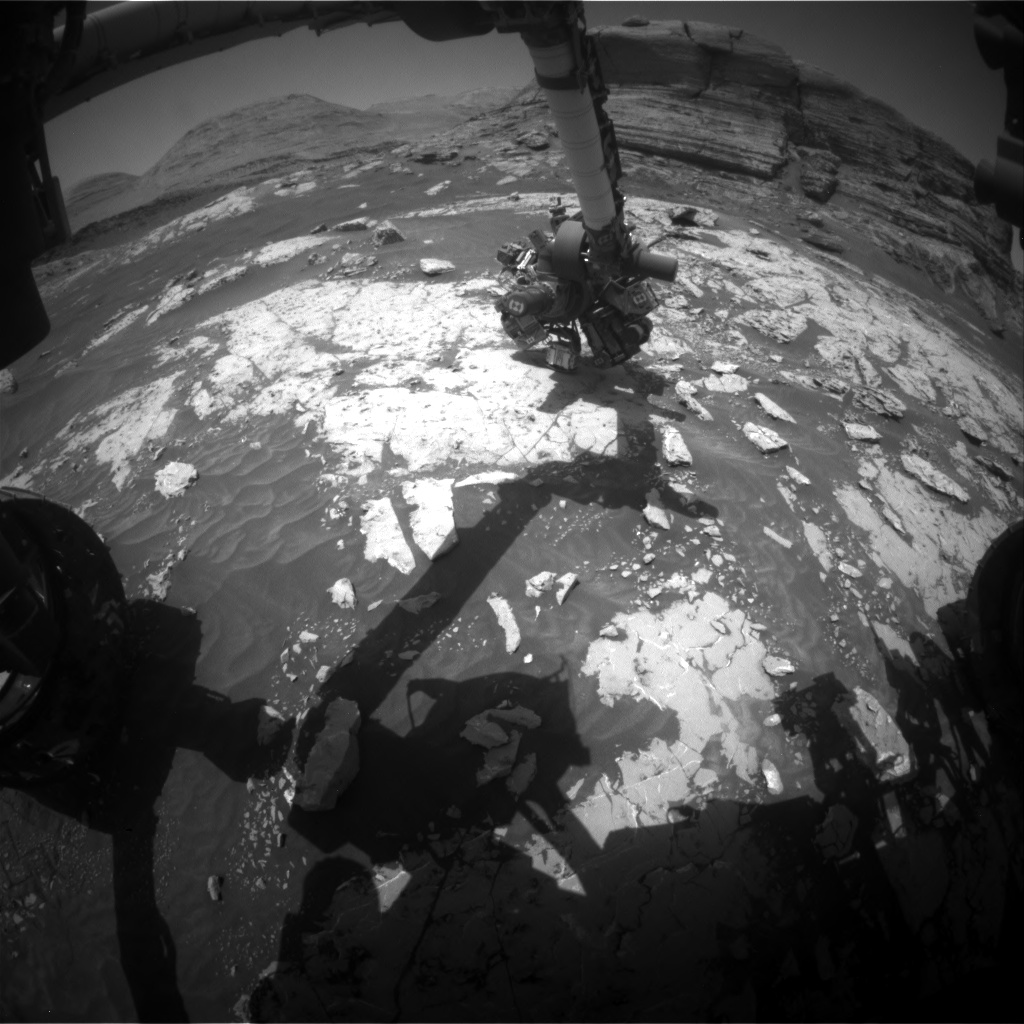 Nasa's Mars rover Curiosity acquired this image using its Front Hazard Avoidance Camera (Front Hazcam) on Sol 3052, at drive 696, site number 87