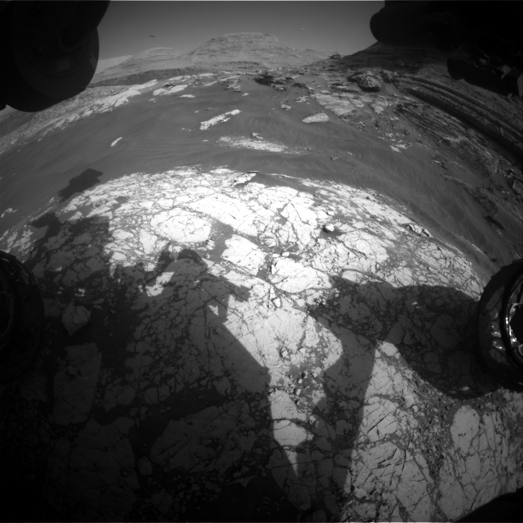 Nasa's Mars rover Curiosity acquired this image using its Front Hazard Avoidance Camera (Front Hazcam) on Sol 3053, at drive 792, site number 87