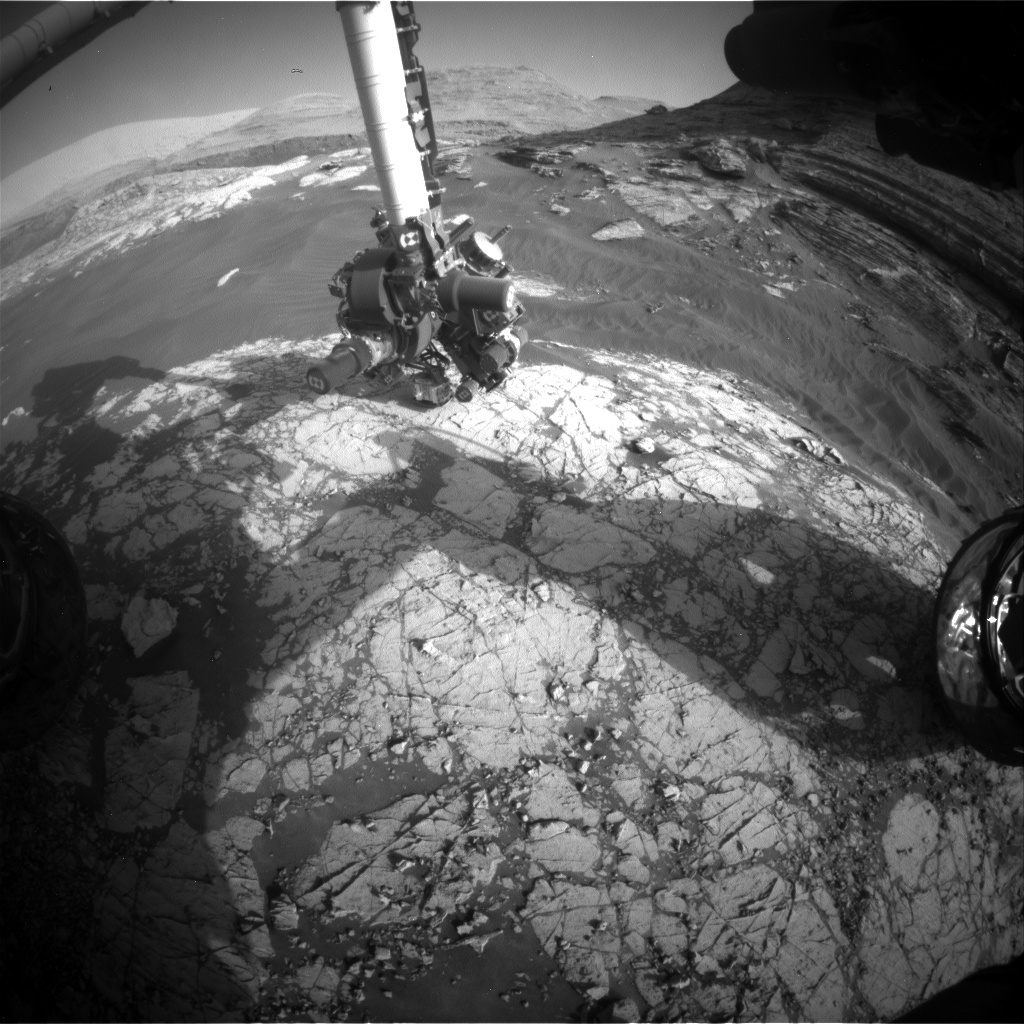 Nasa's Mars rover Curiosity acquired this image using its Front Hazard Avoidance Camera (Front Hazcam) on Sol 3054, at drive 792, site number 87